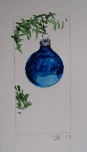 Ornament 24, Nov. 2017, watercolour on paper