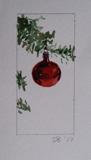 Ornament 3, Nov. 2017, watercolour on paper