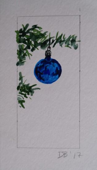 Ornament 4, Nov. 2017, watercolour on paper