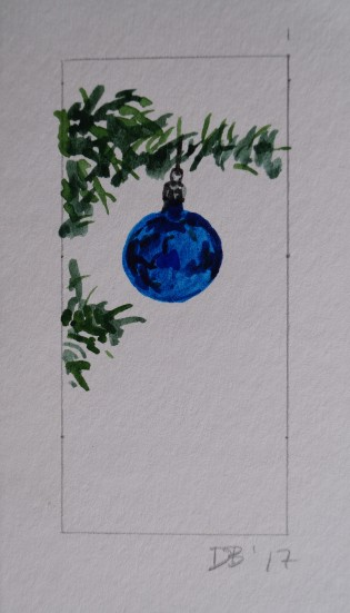 Ornament 4, Nov. 2017, watercolour on paper