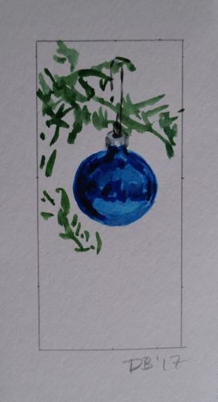 Ornament 5, Nov. 2017, watercolour on paper