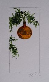 Ornament 7, Nov. 2017, watercolour on paper