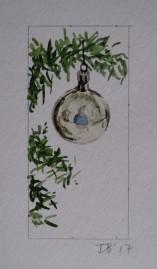 Ornament 8, Nov. 2017, watercolour on paper