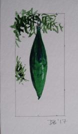 Ornament 9, Nov. 2017, watercolour on paper