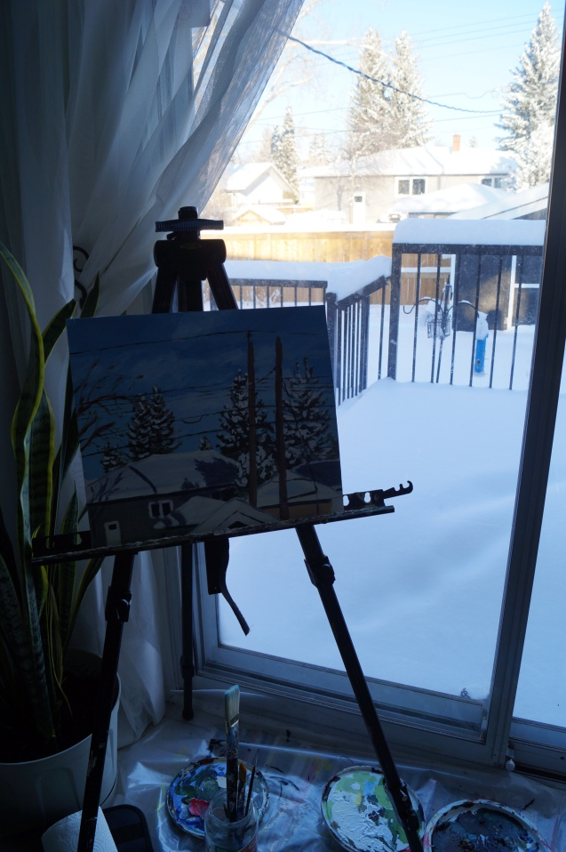 Painting set-up.