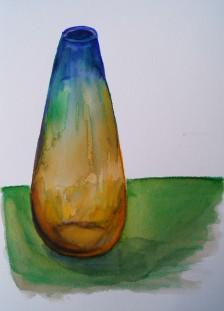 Multicolour Vase, watercolour pens, Feb. 7, 2018