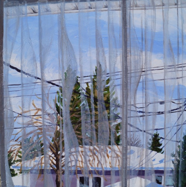 Patio Doors, Feb. 2021, acrylic on masonite